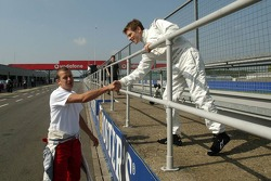 Olivier Panis and Anthony Davidson