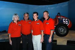 Susan Unser, Al Unser, Sr., Al Unser III and Al Unser, Jr.