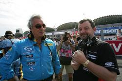 Flavio Briatore and Paul Stoddart