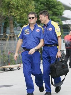 Gil de Ferran and Nick Fry