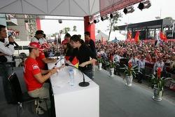 Ferrari fans event: Michael Schumacher signs autographs