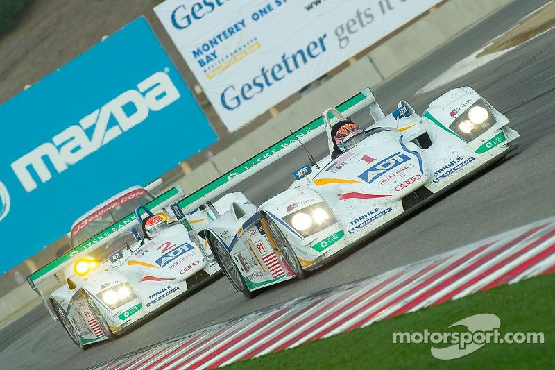 #1 Champion Racing Audi R8: JJ Lehto, Marco Werner et #2 Champion Racing Audi R8: Frank Biela, Emanu