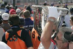 The Vanderbilt Cup is brought to Sébastien Bourdais