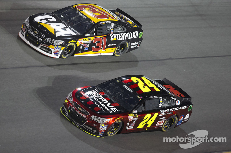 Ryan Newman, Richard Childress Racing, Chevrolet, und Jeff Gordon, Hendrick Motorsports, Chevrolet