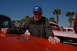 90-year old Russ Truelove shown beside his 1956 Mercury Monterrey.