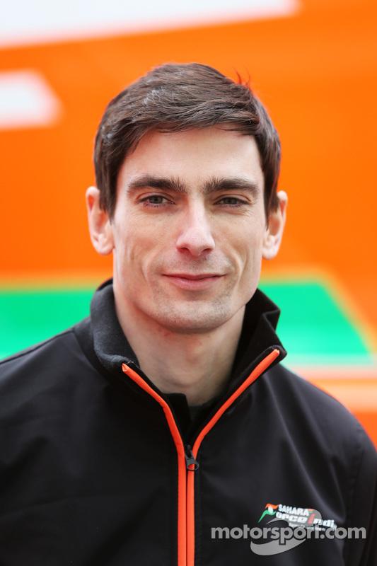 Tim Wright, Sahara Force India F1 Team engenheiro de pista