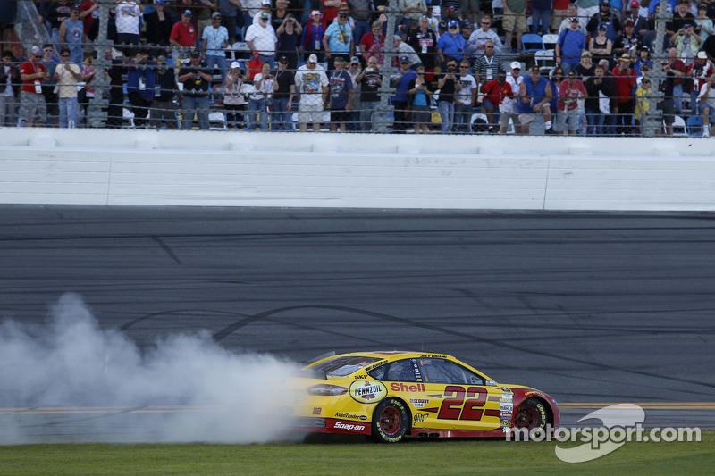Race winner Joey Logano, Team Penske Ford celebrates