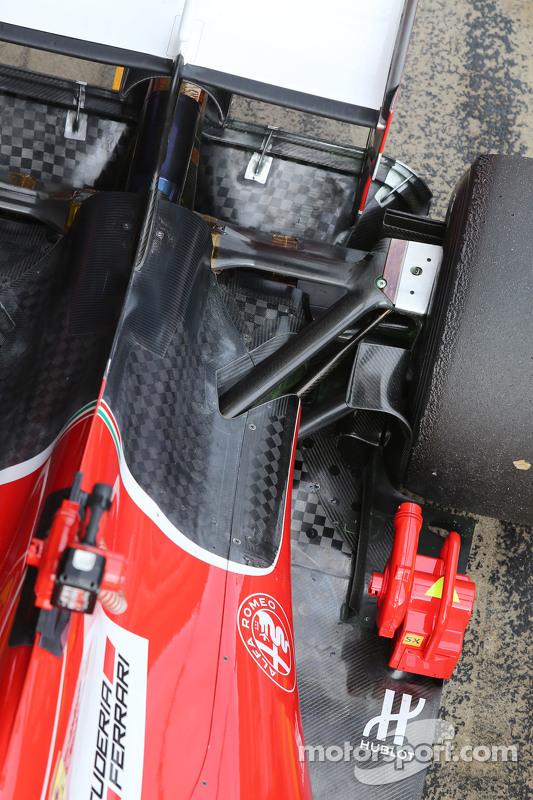 Ferrari SF15-T, Detail der hinteren Aufhängung