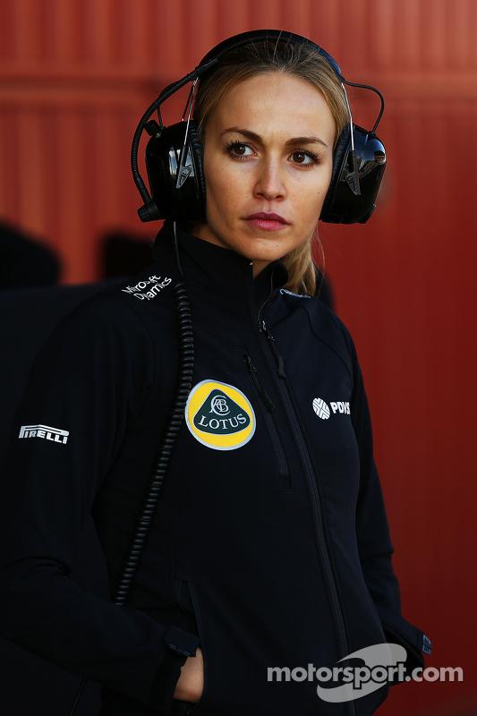 Carmen Jorda, Entwicklungsfahrerin Lotus F1 Team