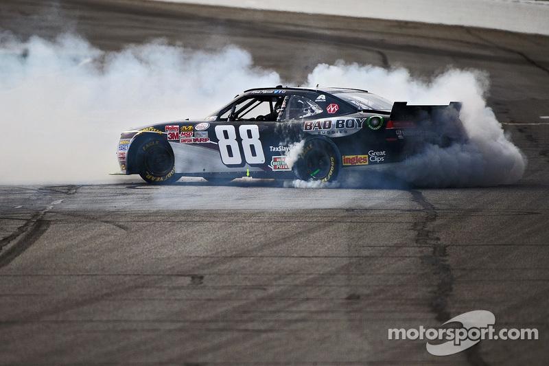 Kevin Harvick, JR Motorsports, Chevrolet, beim Feiern