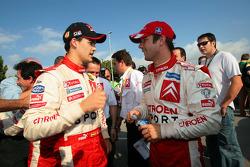 Daniel Sordo celebrates 2005 JWRC title with Sébastien Loeb