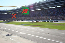 Coming to the green flag