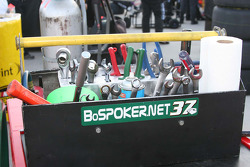 Tools for Mike Skinner's crew