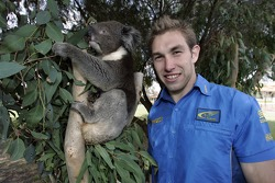 Chris Atkinson meets a koala