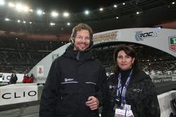 Race of Champions organizers Fredrik Johnsson and Michèle Mouton