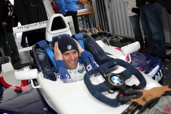 Mark Webber BMW WilliamsF1 Team driver 2005 drives a Formula BMW in the snow