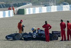 Nico Rosberg off-track