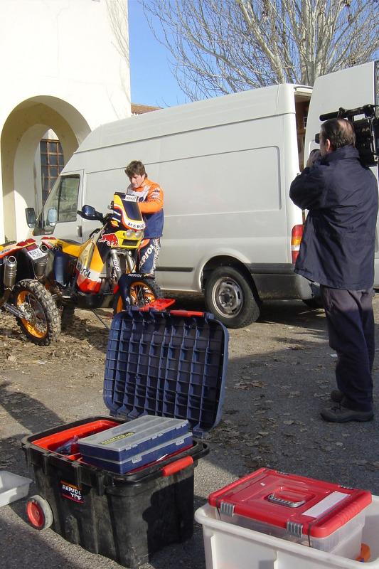 L'équipe Repsol KTM en test à Saragosse