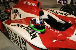Dario Franchitti's helmet on the No. 27 Klein Tools Jim Beam Dallara Honda Firestone