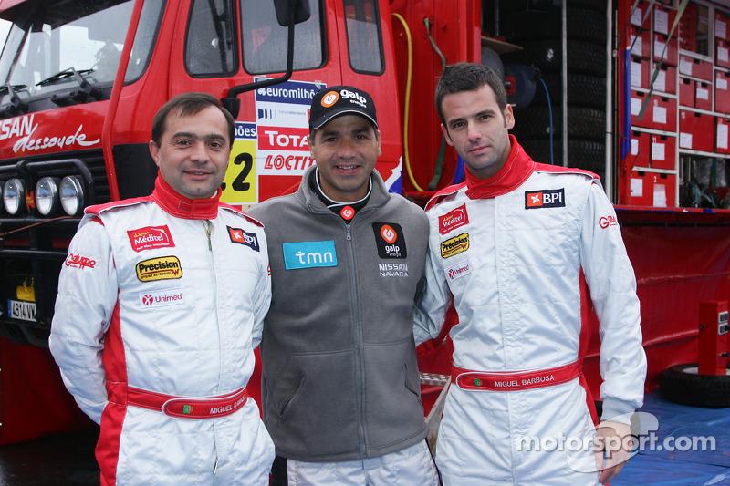 Présentation de l'équipe Nissan à Dessoude: Miguel Ramalho, Carlos Sousa et Miguel Barbosa