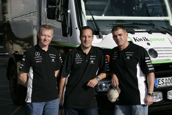 Kwikpower Mercedes-Benz Team: truck team driver and co-drivers Udo Kuhn, Markus Reiter and Michael Zerwer