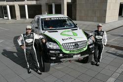 Kwikpower Mercedes-Benz Team: Ellen Lohr and Detlef Ruf pose with the Kwikpower Mercedes-Benz