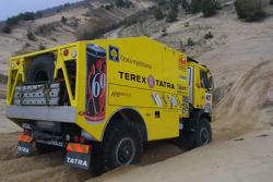 Loprais Tatra Team: Karel Loprais, Petr Gilar and Ales Loprais test the Tatra Dakar 2006 4x4