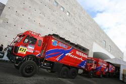 Nissan Dessoude trucks at scrutineering