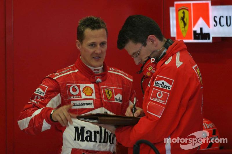 Michael Schumacher y Chris Dyer