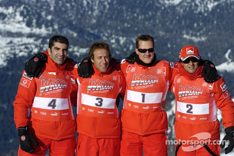 Marc Gene, Luca Badoer, Michael Schumacher ve Felipe Massa