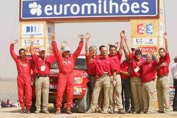 Car category podium: René Metge and Bernard Chevalier
