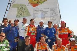Dakar 2006, il tributo dei piloti a Fabrizio Meoni alla