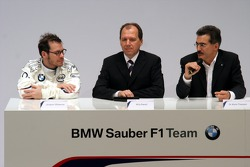 Jacques Villeneuve, Willy Rampf and Mario Theissen