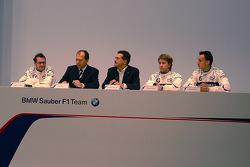 Jacques Villeneuve, Willy Rampf, Mario Theissen, Nick Heidfeld et Robert Kubica