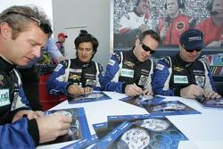 Steve Johnson, Robert Nearn, Cyrille Sauvage and StŽphane Ortelli