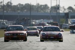 #30 Fastmetal Motorsports Porsche 996: Tim Pappas, Mike Fitzgerald, #14 Martinelli Motorsports BMW M3: Jason Martinelli, Jeff McMillen