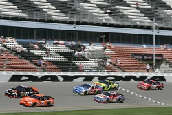 Tony Stewart, Denny Hamlin, Mark Martin, Brian Vickers and Kyle Busch