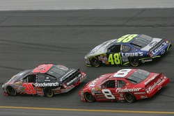 Kevin Harvick, Jimmie Johnson and Dale Earnhardt Jr.