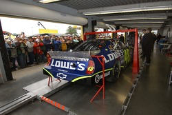 Jimmie Johnson's car in NASCAR inspection