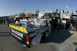 Team Copaxone Chevy garage area