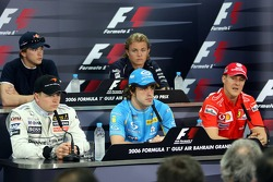 FIA press conference: Kimi Raikkonen, Fernando Alonso, Michael Schumacher, Scott Speed and Nico Rosberg
