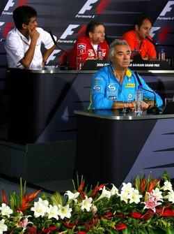 FIA press conference: Flavio Briatore, Aguri Suzuki, Jean Todt and Gerhard Berger