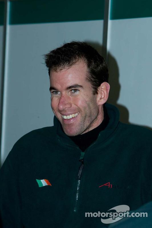 Le pilote de l'équipe d'Irlande Ralph Firman