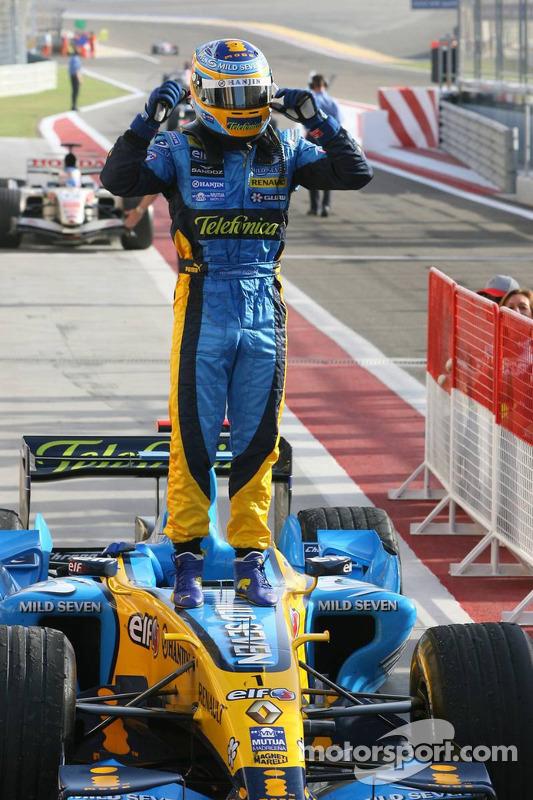Ganador de la carrera que Fernando Alonso celebra