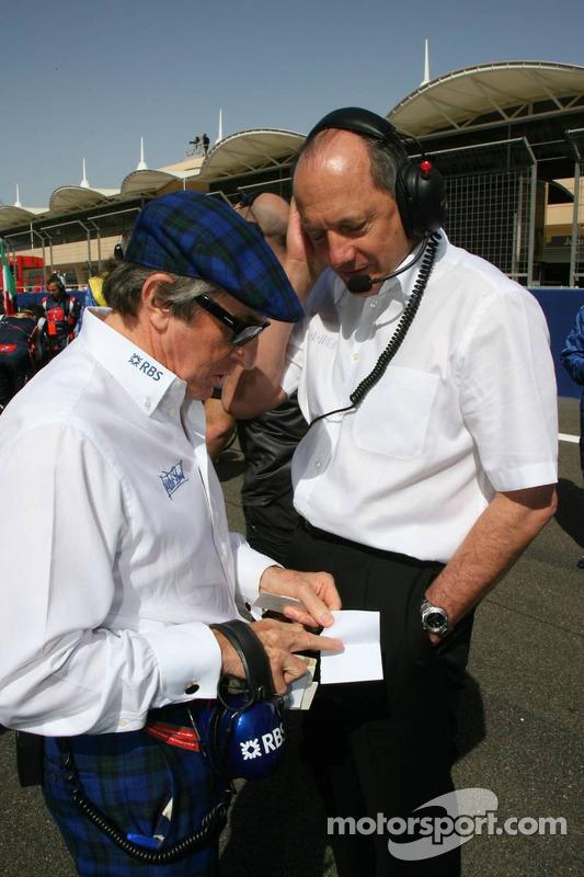 Sir Jackie Stewart et Ron Dennis