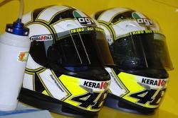 Helmets of Valentino Rossi