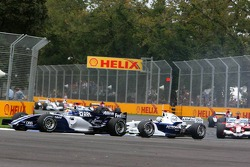 Nick Heidfeld leads Mark Webber