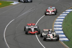 Jenson Button leads Kimi Raikkonen