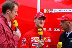 Michael Schumacher and Niki Lauda