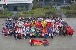 Toutes les équipes et staff A1 posent pour une photo de fin de saison